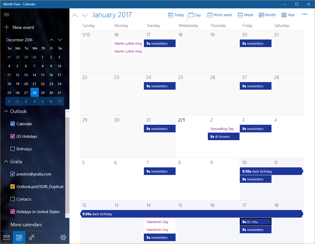 Calendar Apps For Windows : Who needs gmail built in windows apps that do the