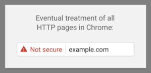 chrome eventual not secure password