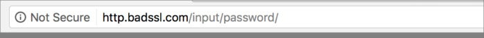 chrome not secure password