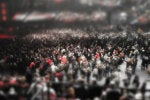 crowd tilt shift