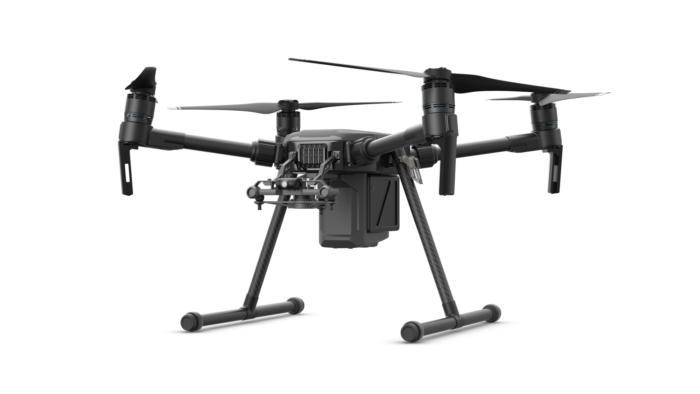 dji m200 drone facing left