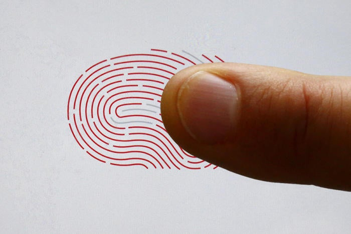 fingerprint iphone biometrics access