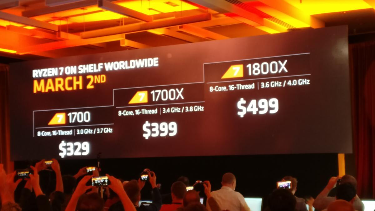 AMD Ryzen 7 prices