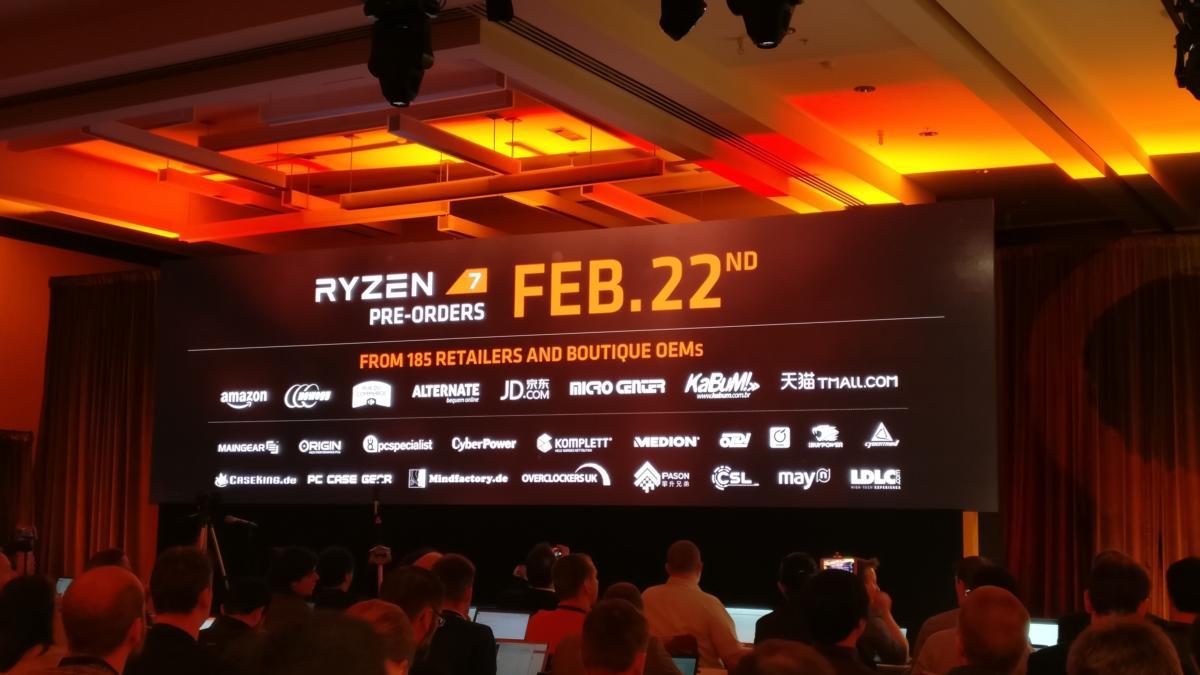 AMD Ryzen 7 preorders