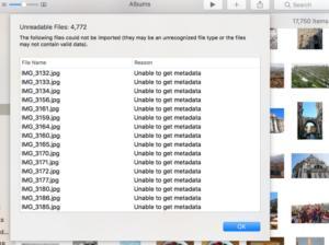 mac911 unable to get metdata error
