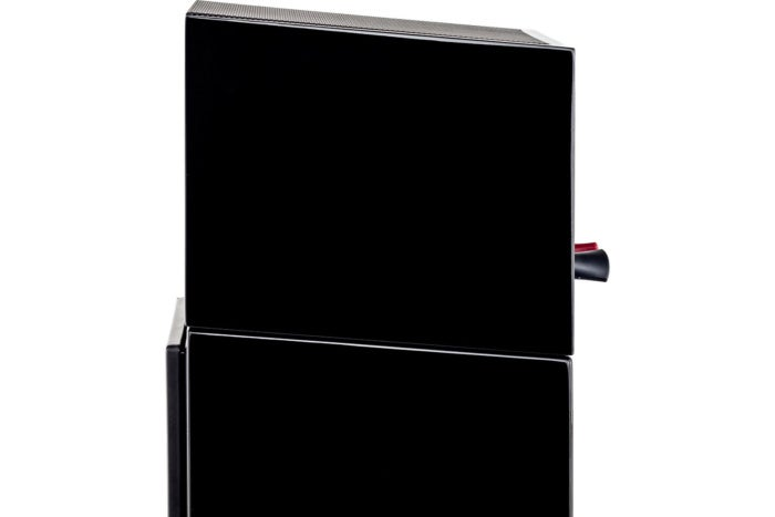 MartinLogan's Motion AFX speaker is angled to match it's Motion-series speakers.  However, you can u