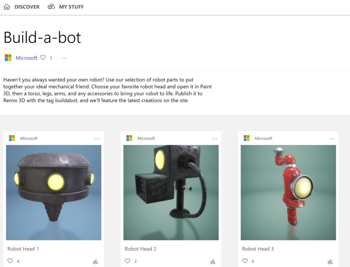 paint 3d remix 3d build a bot