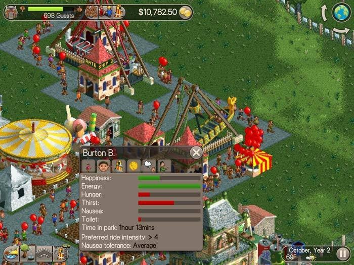 Roller Coaster Tycoon Classic review: Amusement park