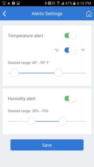 Toost alert settings