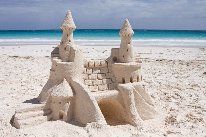 sand castle on harbour island