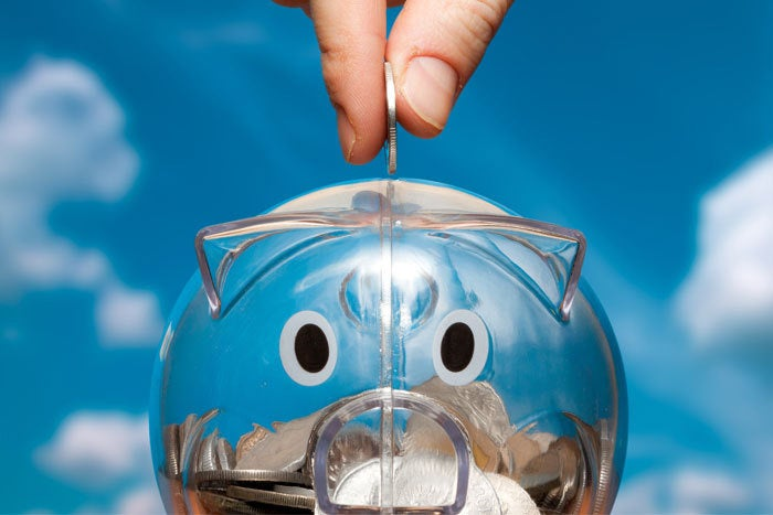savings cloud piggy bank