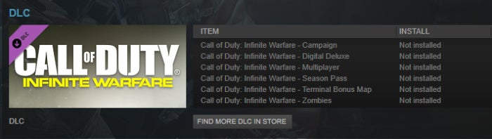 Call of Duty: Infinite Warfare install