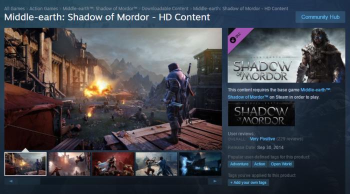 Shadows of Mordor - HD Content