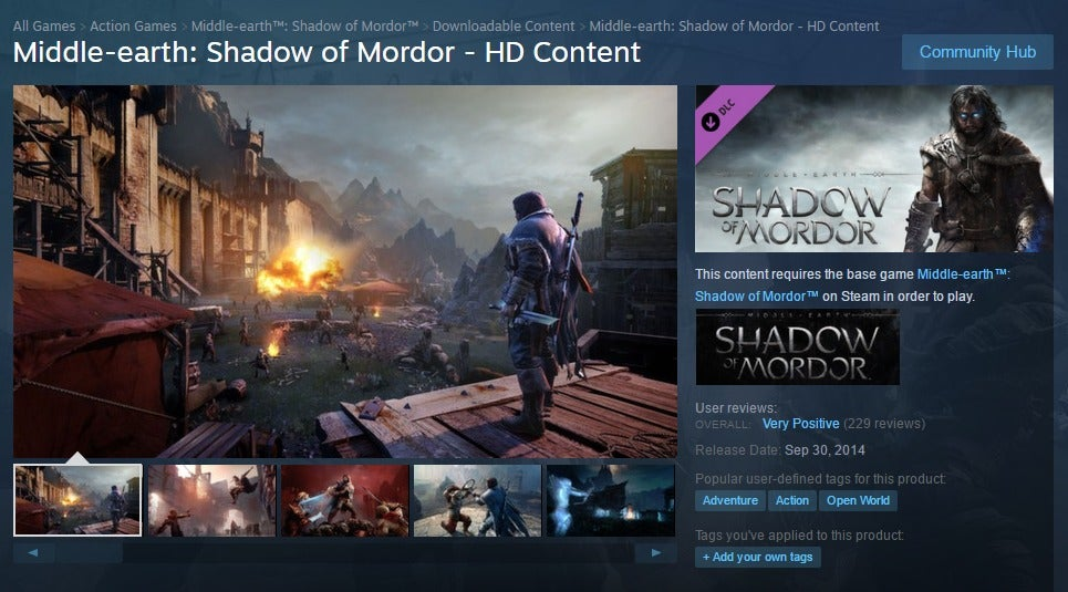 middle earth shadow of mordor download size