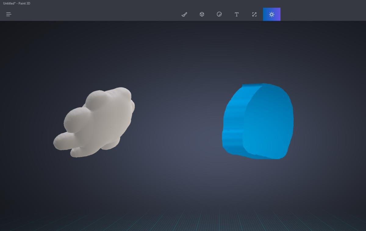 soft vs hard models 3D Doodle Paint 3 Microsoft