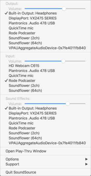 soundsource3 drop down audio menu