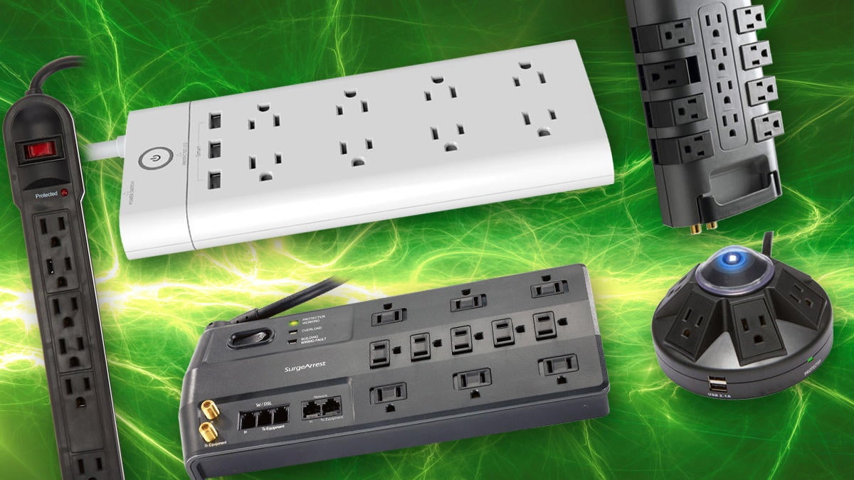UPS Battery Backup Surge Protector Volt Watt 6 Outlet 5 ft Power Cord Electronic