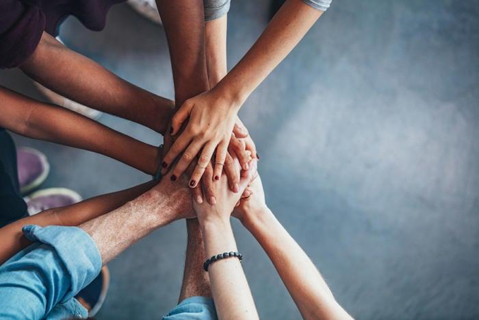 teamwork trust hands 100708618