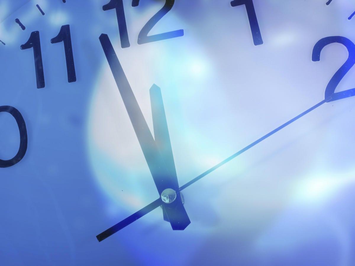 closeup of clock deadline