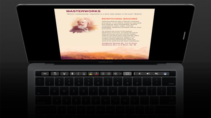 word focus mode on macbook pro touch bar