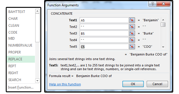 10 use the concatenate function to join parsed fields