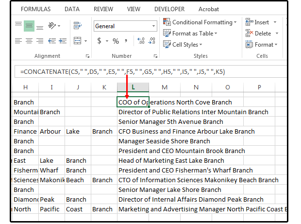 12 extract the branch information from the database