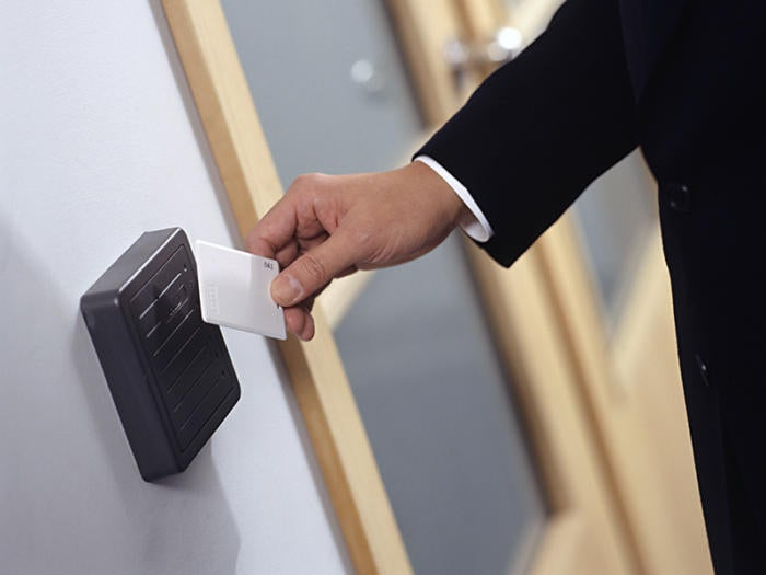 7 networked security door