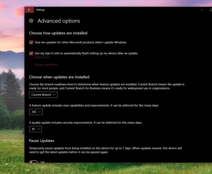 Windows 10 Creators Update defer updates