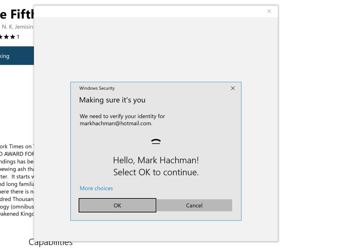 Compra de Microsoft Edge con Windows Hello