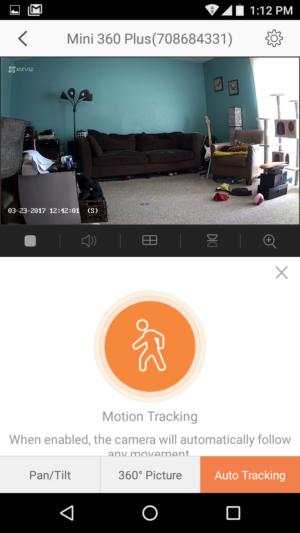 ezviz motion detection trackgin