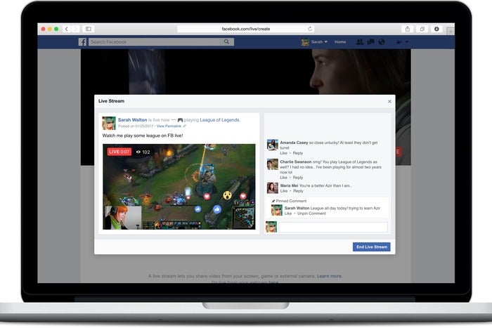 Facebook live videos take aim at Twitch with streaming software, hardware support