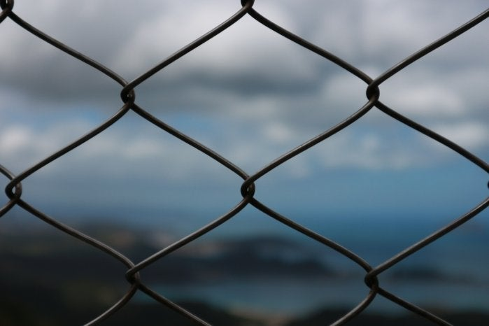 fence cloud barrier chain link metal