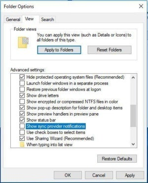 file explorer turn off ad