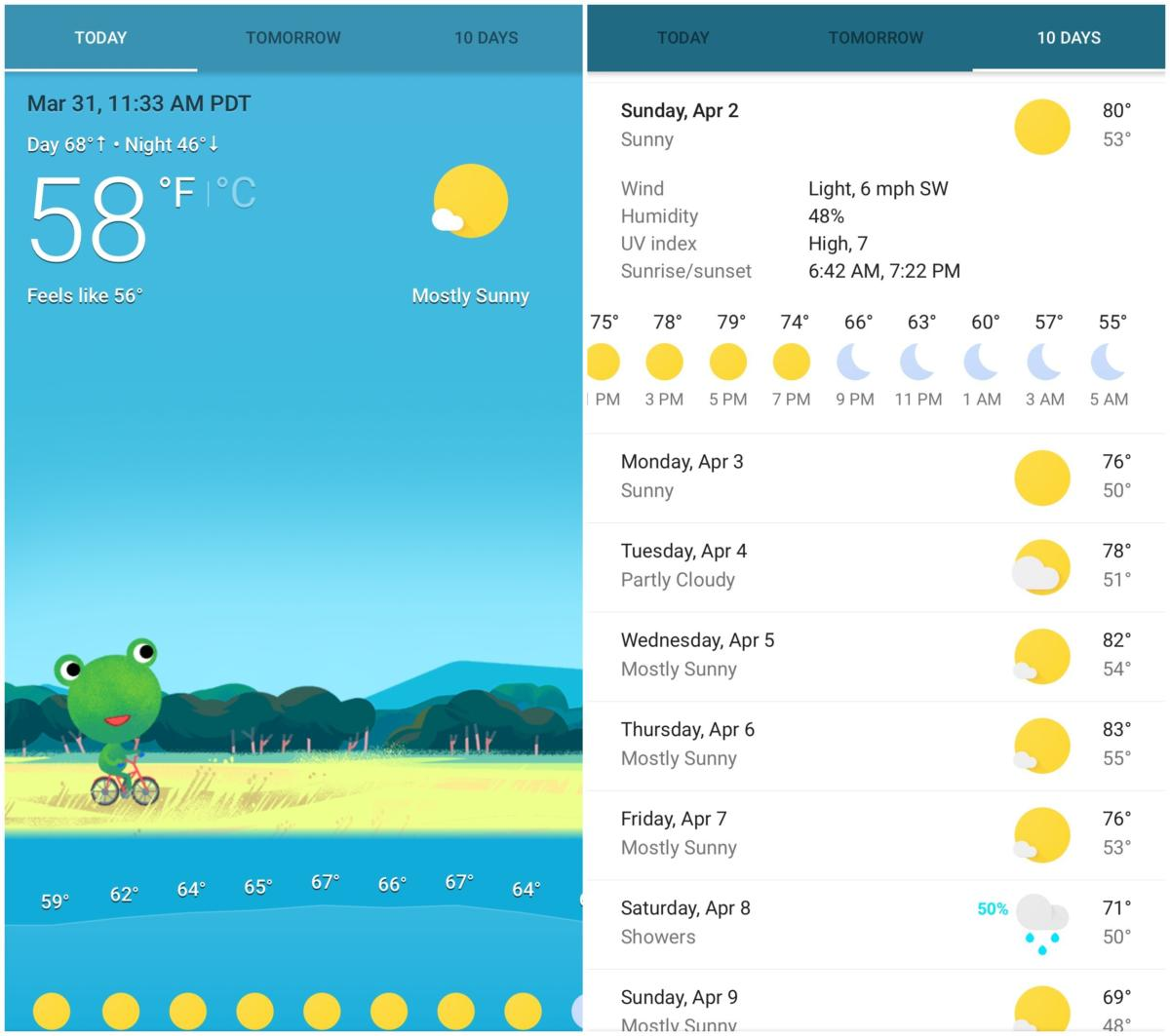 google app weather