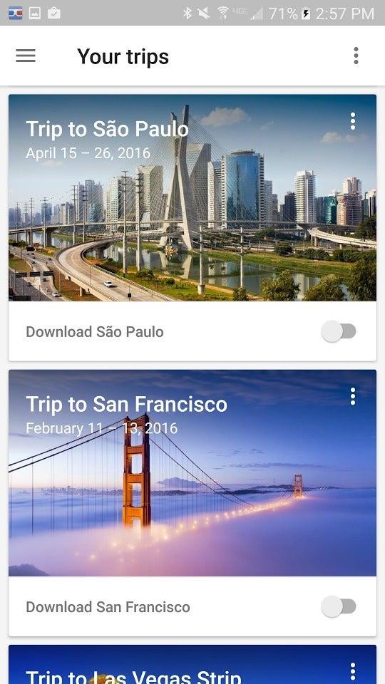 google apps google trips