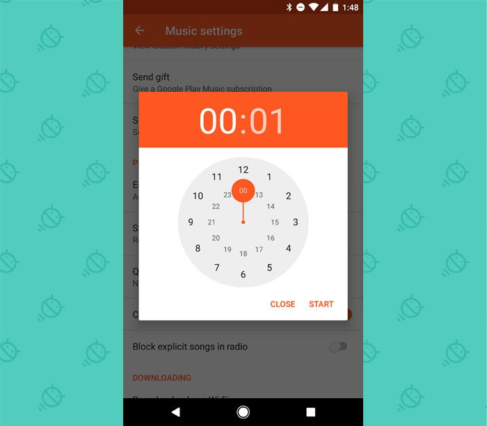 Google Play Music - Sleep Timer
