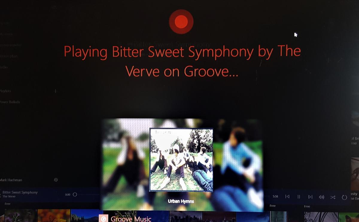 Windows 10 Creators Update groove hands off experience