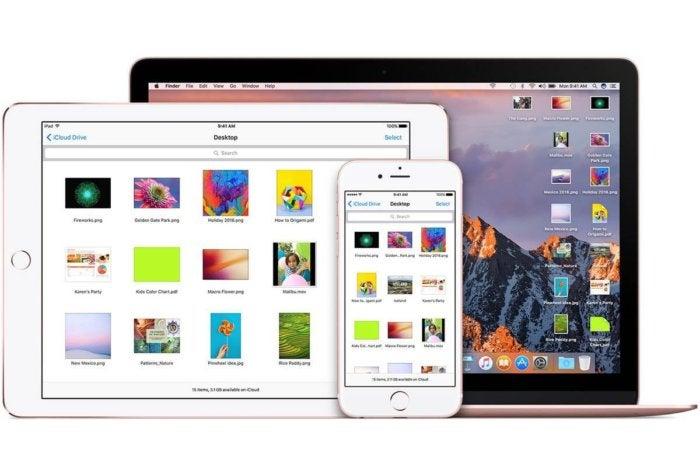 icloud desktop documents stock sierra