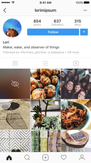 instagram sensitive content profile