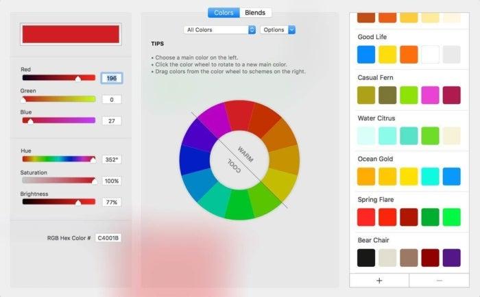 iscrapbook 7 color wheel
