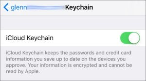 mac911 keychain disable ios blur