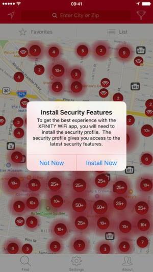 mac911 xfinity wifi app