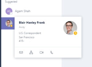 microsoft teams contact card edited