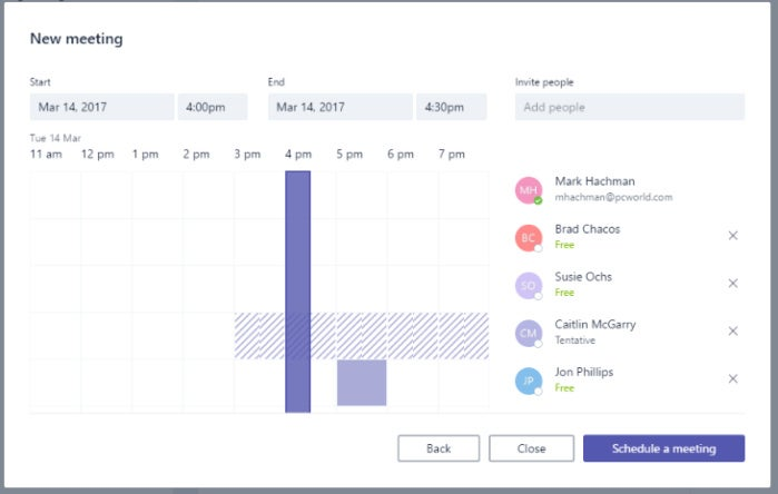 microsoft teams meetings scheduling assistant