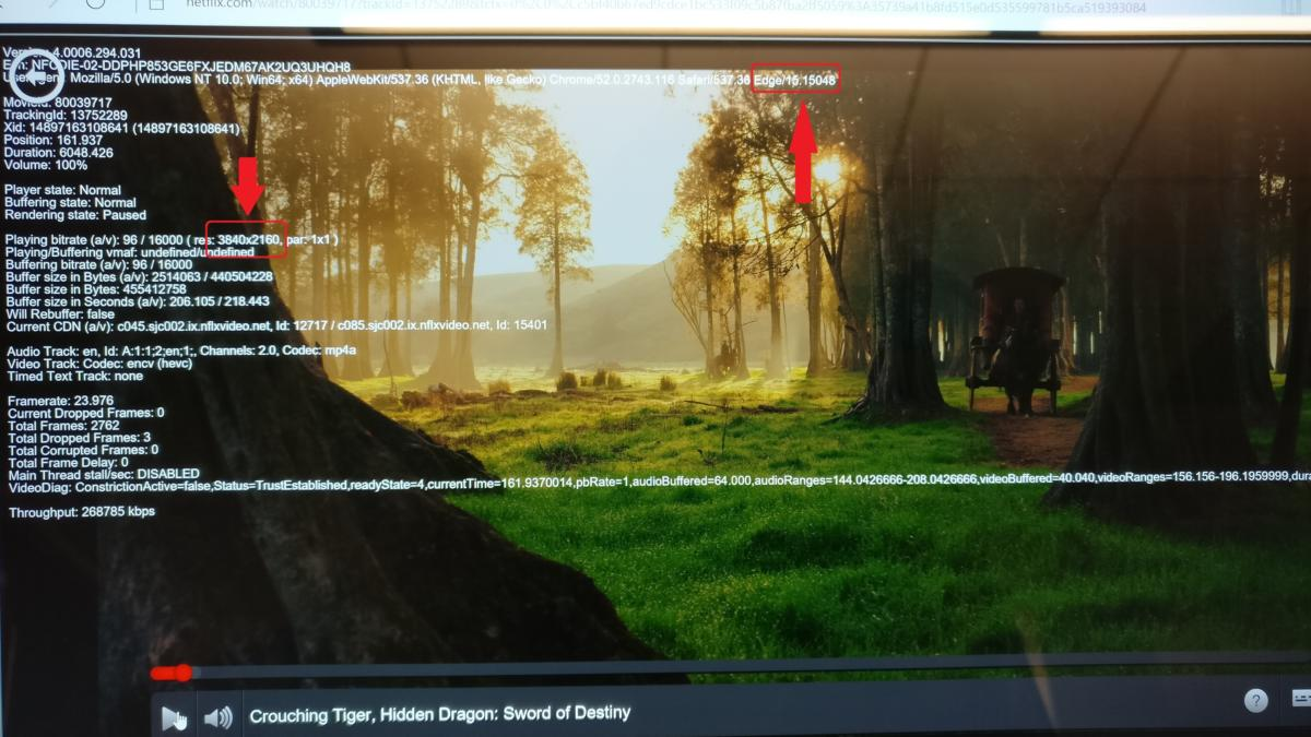 netflix 4k in edge edit Windows 10 Creators Update