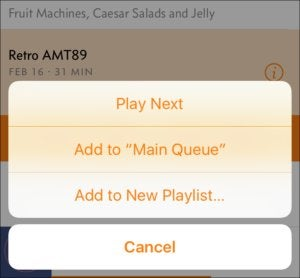 overcast3 add to queue