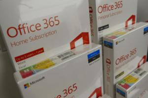 Office 365 software boxes