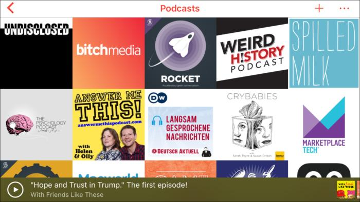 pocketcasts6 main graphical screen
