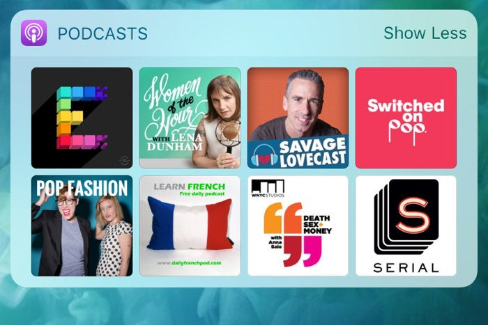 podcast widget ios 10.3