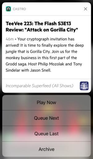 podcastapps castro notifications
